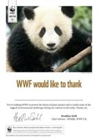 Adopt a Panda Certificate